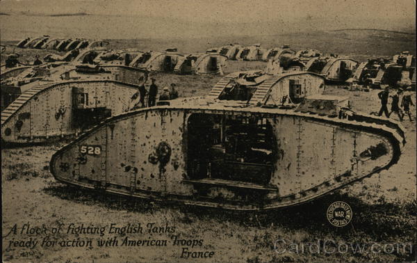 A Flock of Fighting English Tanks World War I