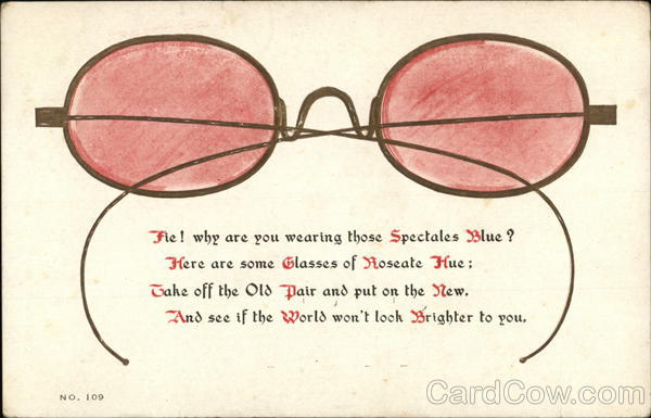 Rose Colored Glasses Comic, Funny