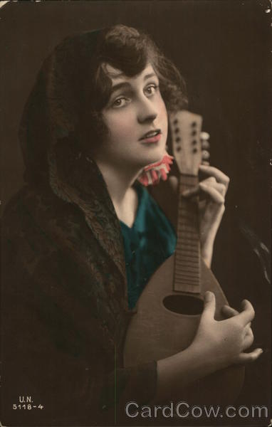 A Woman playing a Lute Women