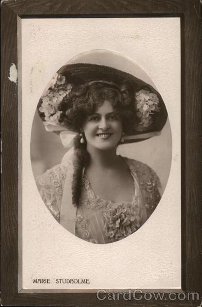 A Pretty Woman in Flower Hat Women