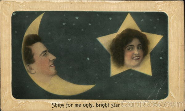 Moon with Man's Face, Star with Woman's Face Romance & Love