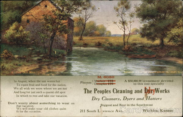 The Peoples Cleaning and Dye Works Advertising
