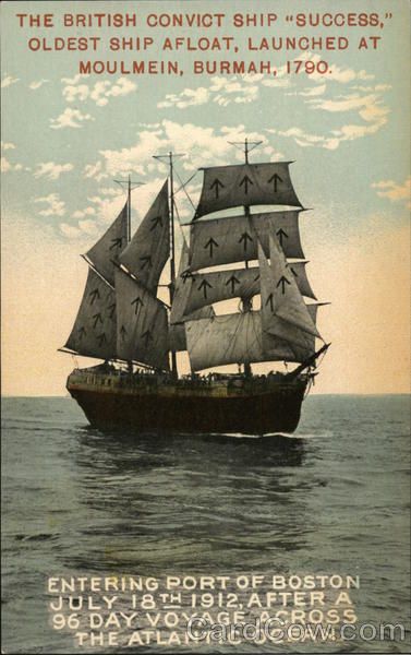 The British Convict Ship Success Oldest Ship Afloat
