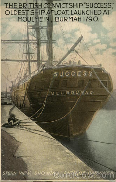The British Convict Ship Success Boats, Ships