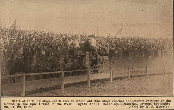 Eighth Annual Round-Up, September 20, 21, 22, 1917 Pendleton Oregon
