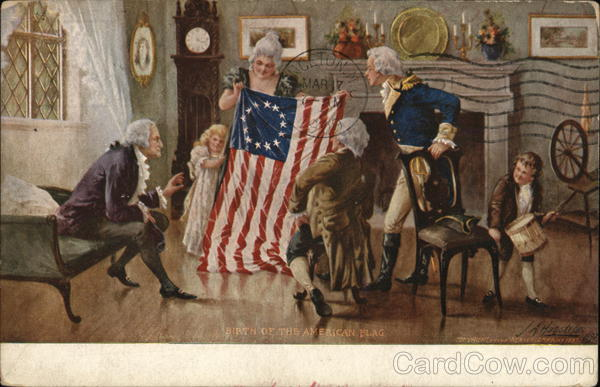 Birth of the American Flag Patriotic