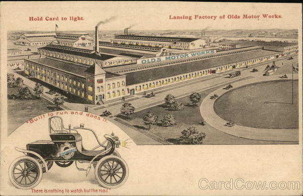 Factory: Olds Motor Works, Inset of Car Cars