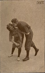 Baseball Player Kissing the Catcher