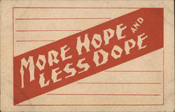 Orange Banner with Tan Words: More Hope and Less Doope Postcard