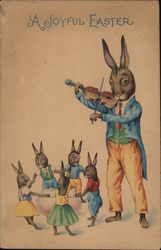 A Joyful Easter - Bunny Playing Violin