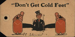 Don't Get Cold Feet - Luggage Tag Postcard