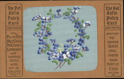 Handpainted Satin Patch Card - Violets