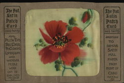 Patented Satin Patch Card, Red Flower