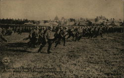 German Charge, Fixed Bayonets, photo taken from American Lines France