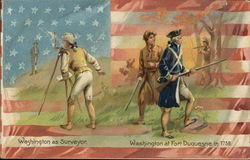 Two Different Scenes of George Washinton