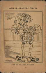 Man with Pipe Wearing Roller Skates and Thick Padding