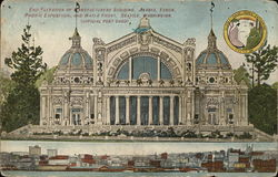 End Elevation of Manufacturers Building, Alaska Yukon Pacific Exposition and Water Front.
