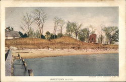 Dirt Riverbank and Shore Across Water View-Jamestown in 1907