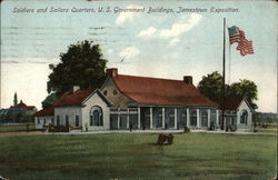 SOldiers and Sailors Quarters, U.S. Government Buildings, Jamestown Exposition