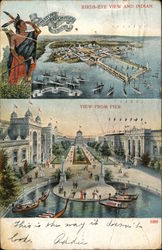 Bird's Eye View and Indian, View from Pier