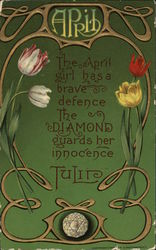 April - Tulips and Diamond
