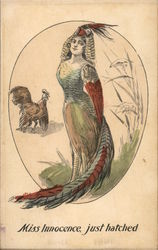 Woman, Who Is A Feathered Bird With Wings
