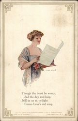 A Woman Holding Sheet Music