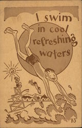 "Young Man Diving Into Water ""Camptoons"""