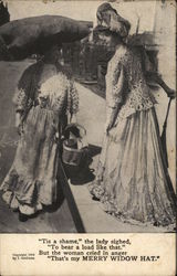 Two Women Passing in the Street, Talking to Each Other