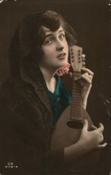 A Woman playing a Lute