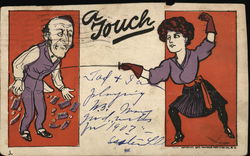 """A Touch"" Woman Fencing"