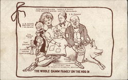 Family Seated Upon a Hog: The Whole Damm Family on the Hog in ____