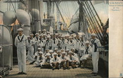 "Group of Sailors U.S.S. ""Hartford"""