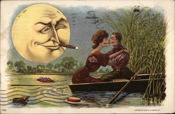 Couple Kissing in Rowboat