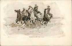 Cowboys Off For Town