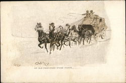 An Old Fashioned Stage Coach Postcard