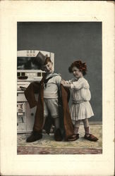 Boy and Girl Dressing Up