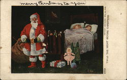 Santa Delivering Gifts to Sleeping Children