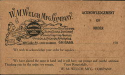 W. M. Welch Mfg. Company, Publishers, Manufacturers and Jobbers