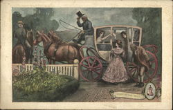 Women in a Horse Drawn Carriage