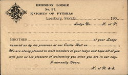 Hermion Lodge Knights of Pythias