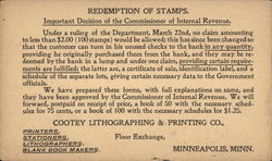 Redemption of Stamps - Important Decision of the Commissioner of Internal Revenue