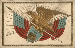 Eagle Holding the State Seal of Maine