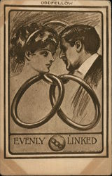 Couple Linked Together by Rings