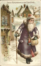 Rare Santa in Purple Robe Sweet Remembrances for Christmas