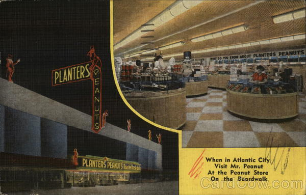 Planters - The Peanut Store Atlantic City New Jersey