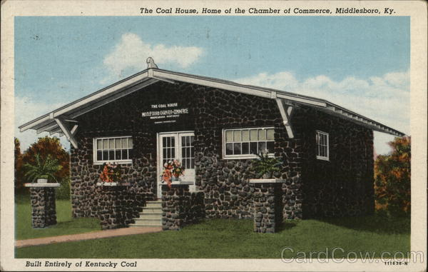 The Coal House, Home of the Chamber of Commerce Middlesboro Kentucky