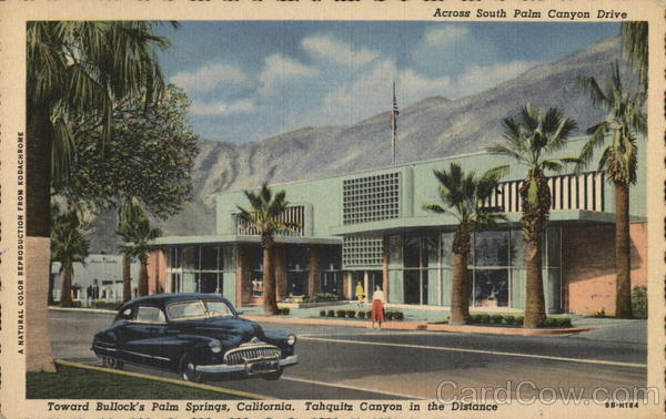 Across South Palm Canyon Drive with Tahquitz Canyon in the Distance Palm Springs California