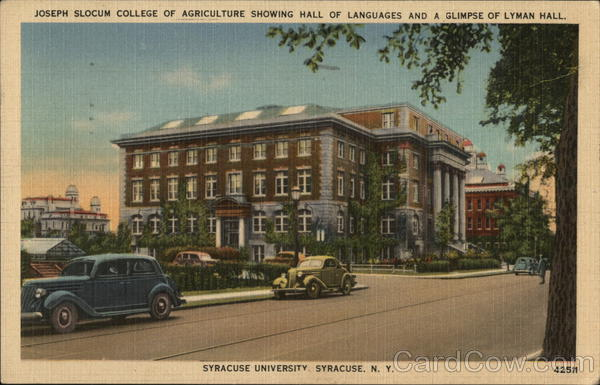 Joseph Slocum College of Agriculture, Showing Hall of Languages and a Glimpse of Lyman Hall Syracuse