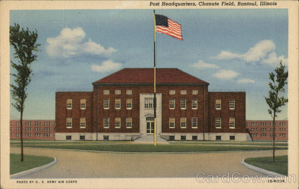 Post Headquarters at Chanute Field Rantoul Illinois